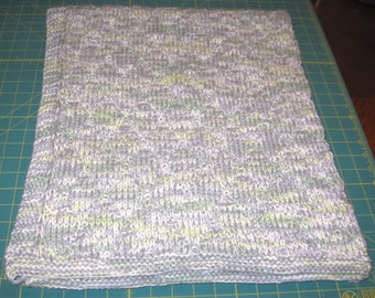 """Green Flannel Baby/Toddler Afghan 34""""x40"""""""
