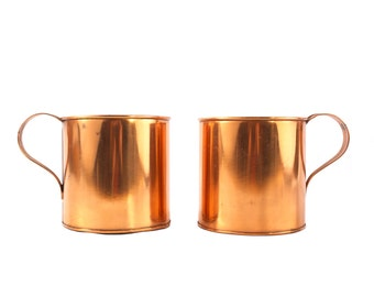 XL Copper Mugs - Really Big Moscow Mule Cup - Set of Two