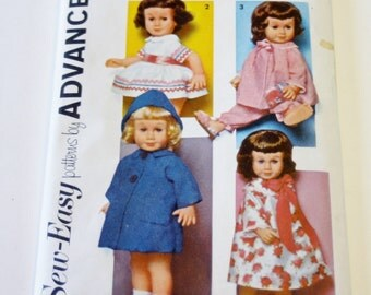 Doll Clothes Pattern - Sew Easy Patterns by Advance for Chatty Cathy Doll's Wardrobe (1962) UNCUT Pattern