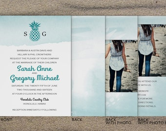 "Deposit for Pineapple Wedding Invitation (5""x7"")"