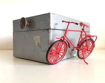 Vintage Grey File Index Storage Metal Box GWS 835
