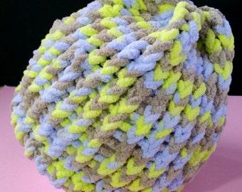 Knitted Baby Beanie, Loom Knit Beanie