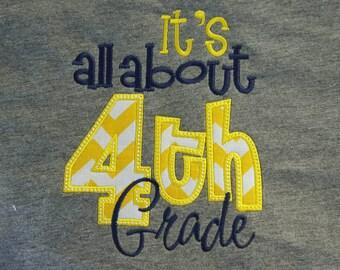 It's all about 4th Grade shirt Fourth Grade  Teacher shirt School shirt