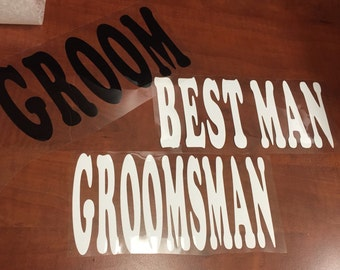 Custom groomsmen decaks for Gabriela