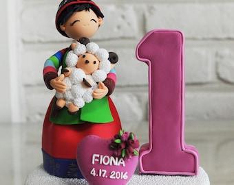 Korean Hanbok first birthday custom cake topper decoration gift
