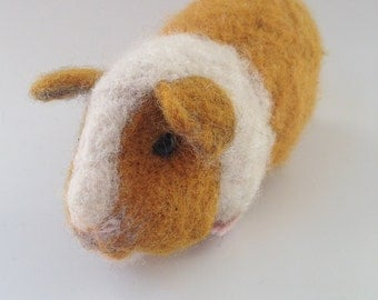 Needle Felted Guinea Pig Doll