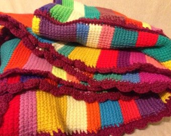 Colorful afghan