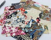 Scrap Pack Chiyogami Paper, Yuzen, Washi, For Making Cards, Jewelry and Collage