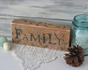 FaMiLY Sign, Wood, Word Art, One of a kind, Mother's day,House warming Gift, Unique Gift, brown gray black