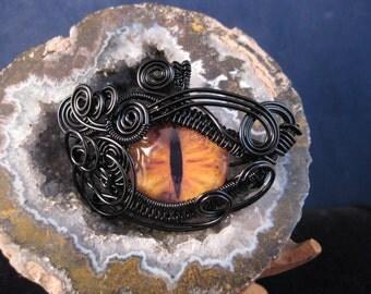 Wire Wrapped Dragon Eye pendant