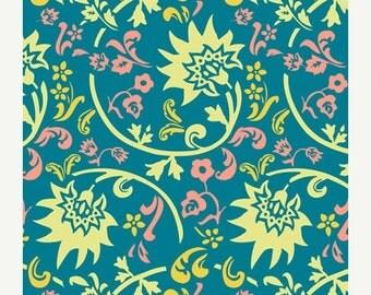 SALE - Tibet Blockprint Blue  (RHA-407) - RHAPSODIA by Pat Bravo for Art Gallery Fabrics - By the Yard