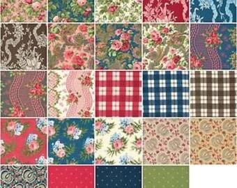 INDIGO ROSE - Fat Quarter Bundle - Verna Mosquera for Free Spirit Fabrics - 24 FQs