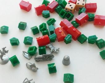 Monopoly Pieces Mixed Media Art Supplies