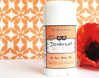 Sweet Orange Organic Deodorant - Natural Vegan Deodorant Organic Citrus Orange Baking Soda Free