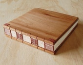 Wood Guest Book Rustic Wedding Cabin Guestbook or Journal Mahogany Wood Unique anniversary gift custom memorial book - ready to ship