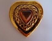 YSL Yves Saint Laurent Pink Heart Brooch RESERVED