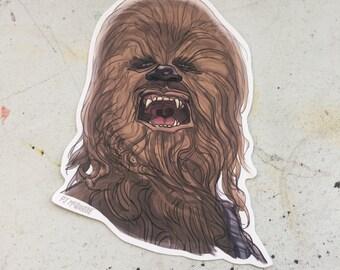 Chewbacca STAR WARS Waterproof Sticker