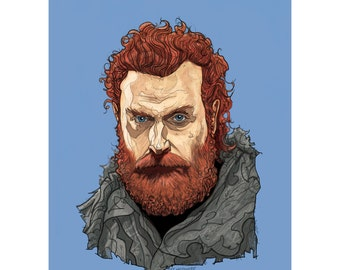 "TORMUND 5x7"" Game of Thrones limited edition print"