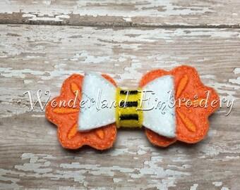 Bee on a flower Felt hair bow
