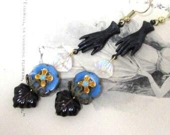 Assemblage Earrings. Boho Earrings. Hand Earrings. Dangle Earrings. Czech beads Earrings. Handmade.