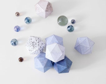 DIY Deco Balls Ston SNUG.DECOBALLS / 6 pattern sheets