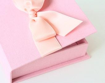 Baby or Wedding Wish Box. Shower Advice Box. Guest Book Alternative. Shown in Blossom/Ballet & Warm Linen/Lavender.