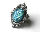 Aquamarine Opal Ring