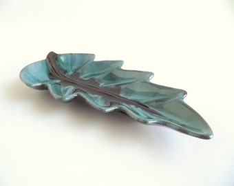 Blue Mountain Pottery Leaf Dish | Vintage Retro Collectible Pottery Bowl | Canadian Souvenir | Coffee Table Decor | BMP Canada