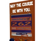 Running medal holder and race bibs- medals holder for race bibs and medals - Star Wars - May the course be with you.
