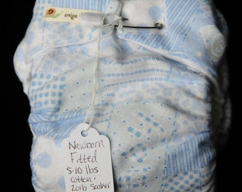Newborn Fitted Cloth Diaper ( 5-10 lbs )