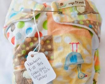 Newborn Fitted Cloth Diaper (5-10 lbs)