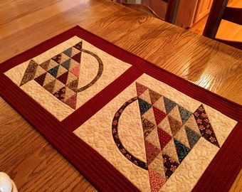 Quilted Table Runner / Table Runner / Handmade / Country Decor - MW