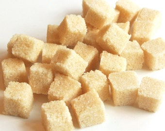 Ginger Sugar Cubes for High Tea Party, Wedding Champagne Toast, Mad Hatter Tea Party, Colored Sugar, Favors, Coffee, Tea