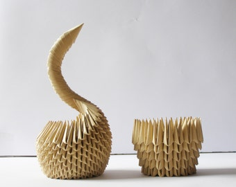 1st Anniversary Gift / First Anniversary Gift / Housewarming Gift / Swan / Pencil Holder / Gift for Him / Handmade / Unique Gift /Home Décor