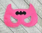 Pink sparkle glitter Batgirl bat girl Embroidered felt play set child size