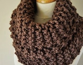 On Sale Outlander Inspired Cowl - Claire's Cowl - Outlander Knit - Brown Knit Neckwarmer - Chunky Knitted Cowl - Outlander Cowl - Women's Kn