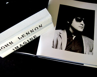 John Lennon Tribute, Beatles Book, John Lennon Books, Imagine Books, Beatle Song Books, John Lennon Art, Custom Beatle Books, John Lennon