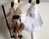 Starwars inspired ribbon sculpture in a clip or headband or both.