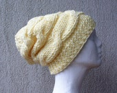 Knit hat Cabled slouchy knit hat Chunky knit beanie Oversized hat Knitted hat Slouch hat Baggy beanie Beanie hat Womens hats Women hat Gift