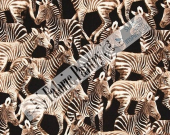 Zebra Quilt Fabric - Timeless Treasures - Michael-C 3966 ~ 1/2 Yard
