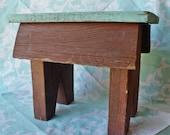 Vintage hand crafted Primitive Step Foot Stool