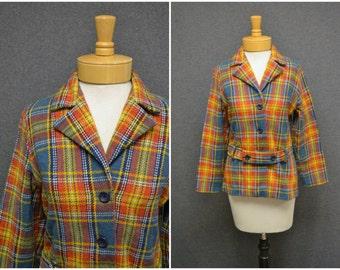1970s Tartan Plaid Jacket