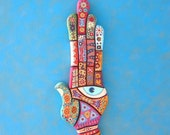 Art Hand, RESERVED, Original Wood Wall Sculpture, Wood Carving, Wall Decor, by Fig Jam Studio