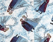 Springs Creative - FROZEN - Elsa and Anna Scenic Toss Knit Fabric