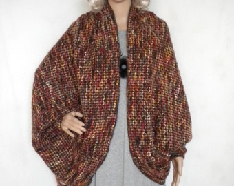 Oversize cardigan sweater long dolman sleeve soft warm bohemian sweater kimono made to order