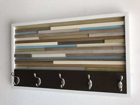 Coat Rack - Wood Wall Art - Wood Art - Reclaimed Wall Art  18X30
