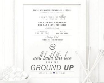 Dan shay lyrics etsy dan shay from the ground up grey and navy valentines stopboris Image collections