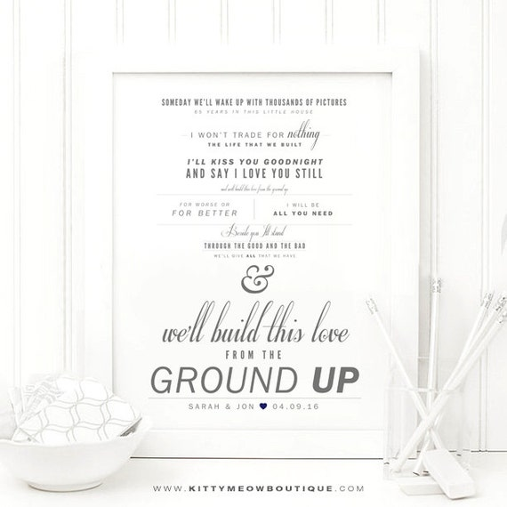 From The Ground Up Sheet Music With Lyrics: Dan Shay From The Ground Up Grey And Navy