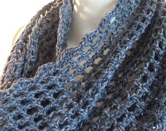 Deep blue denim cotton cowl