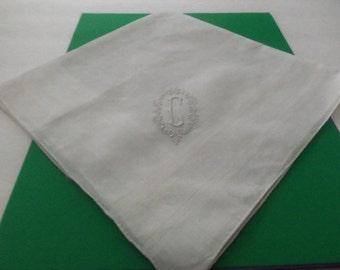 Large Linen Man's Handkerchief   Madeira